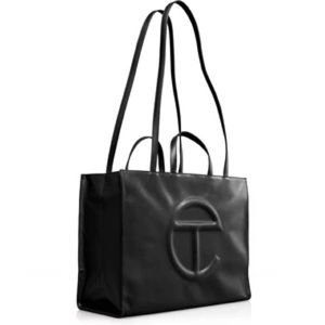 NEW Telfar Iconic Large Black Shopping Tote Bag EXCLUSIVE Sold Out Everywhere